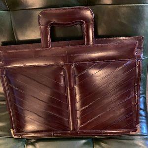 Merlot Eel Skin Briefcase/Attaché Case